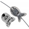 Metal Bead Fish Antique Silver